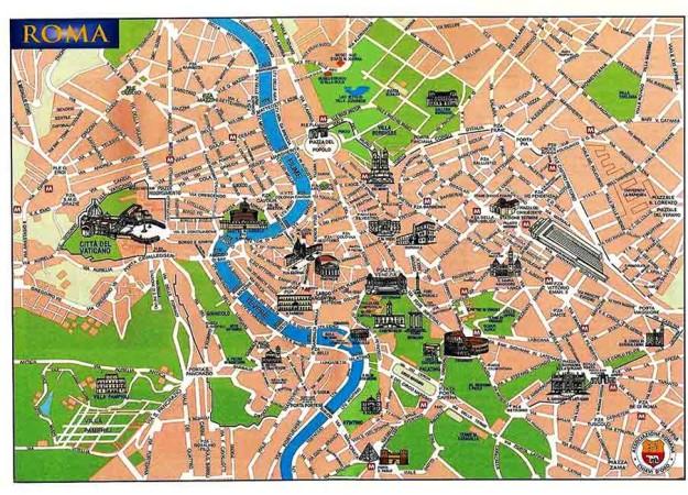roma centro histórico mapa