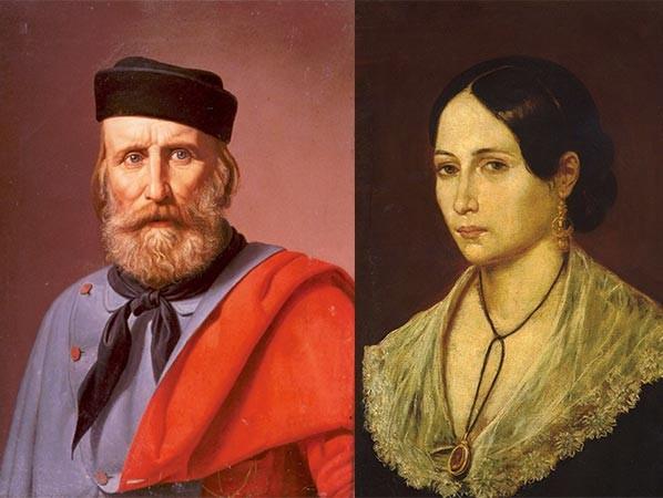 Giuseppe Garibaldi e Anita Garibaldi