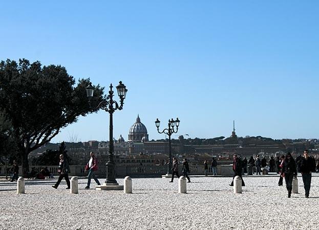 famoso panorama de roma pincio
