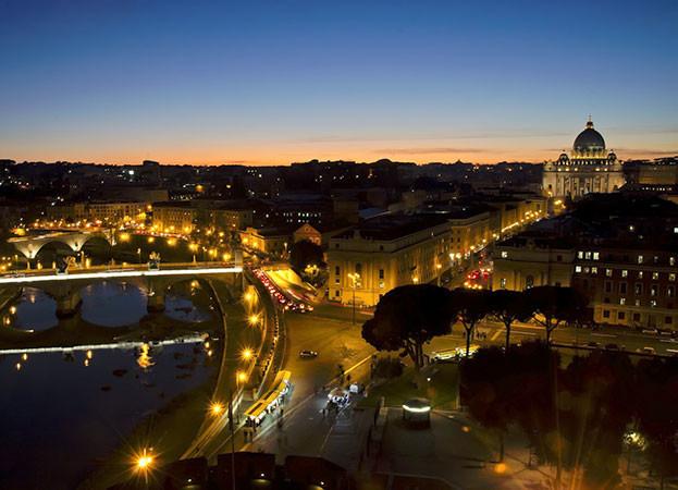 vista panoramica roma castelo sant angelo dorli photography