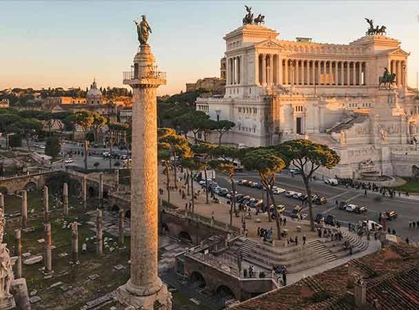 coluna traiana monumentos Roma imperial