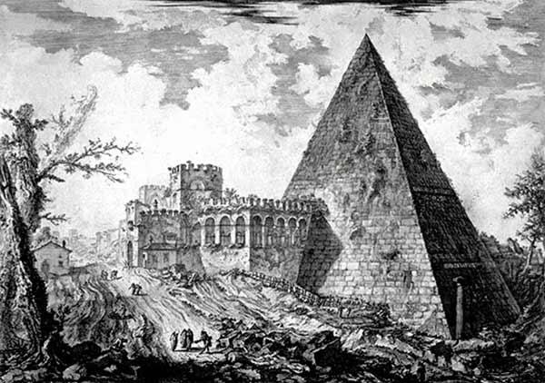 Pirâmide de Roma, história